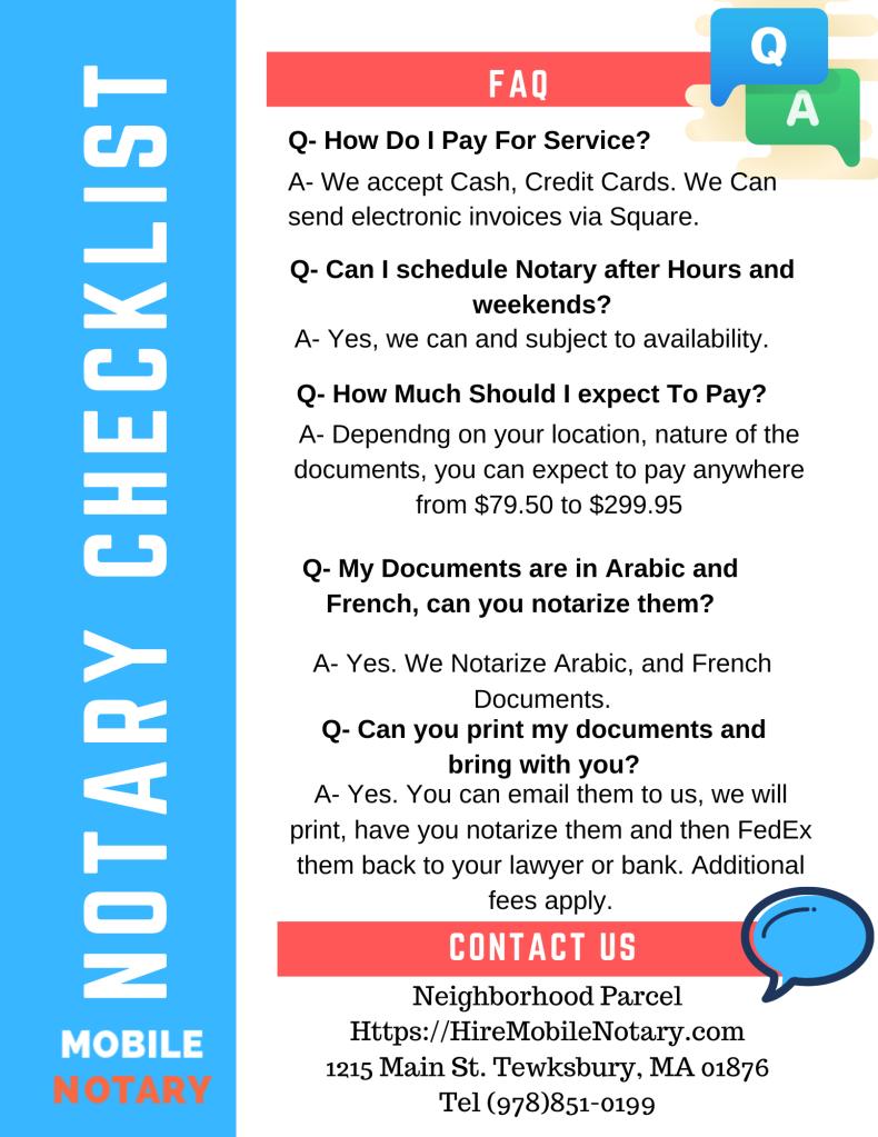 FAQ Notary Public